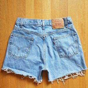 Levi's 505 vintage cut off light wash jean shorts